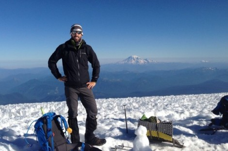 Justin Wright on top of Mount Adams