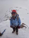 Jill Pelto On Mount Katahdin in winter