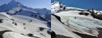 Sholes Glacier comparison in 2013 Aug. 6th and Sept. 12th