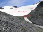 Sholes Glacier from stream gage