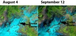 Landsat indicate snowpack changes on Sholes Glacier