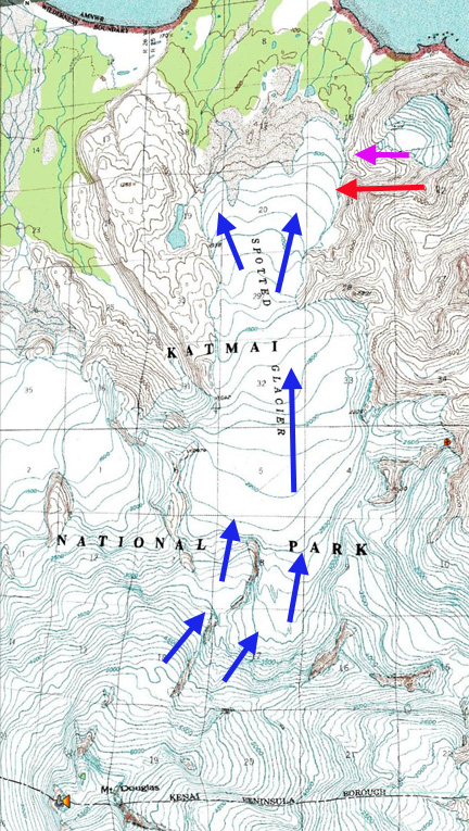 spotted glacier map