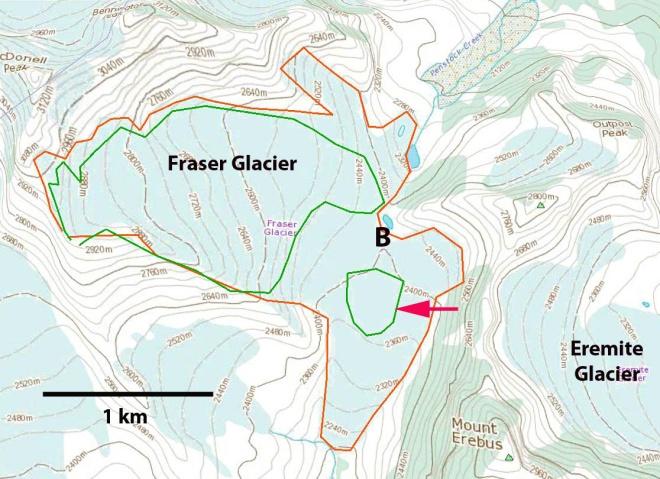 fraser glacier map