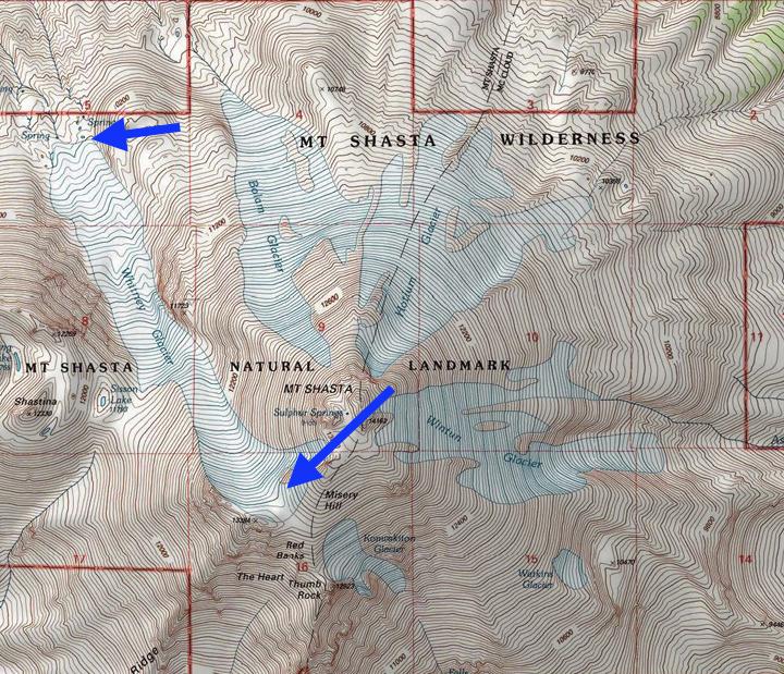 Whitney Glacier Retreat And Thinning Mount Shasta California