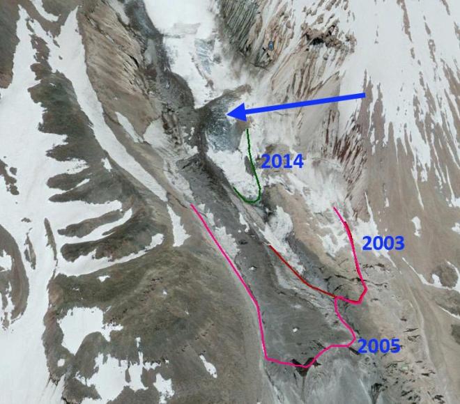 Whintey glacier 2014