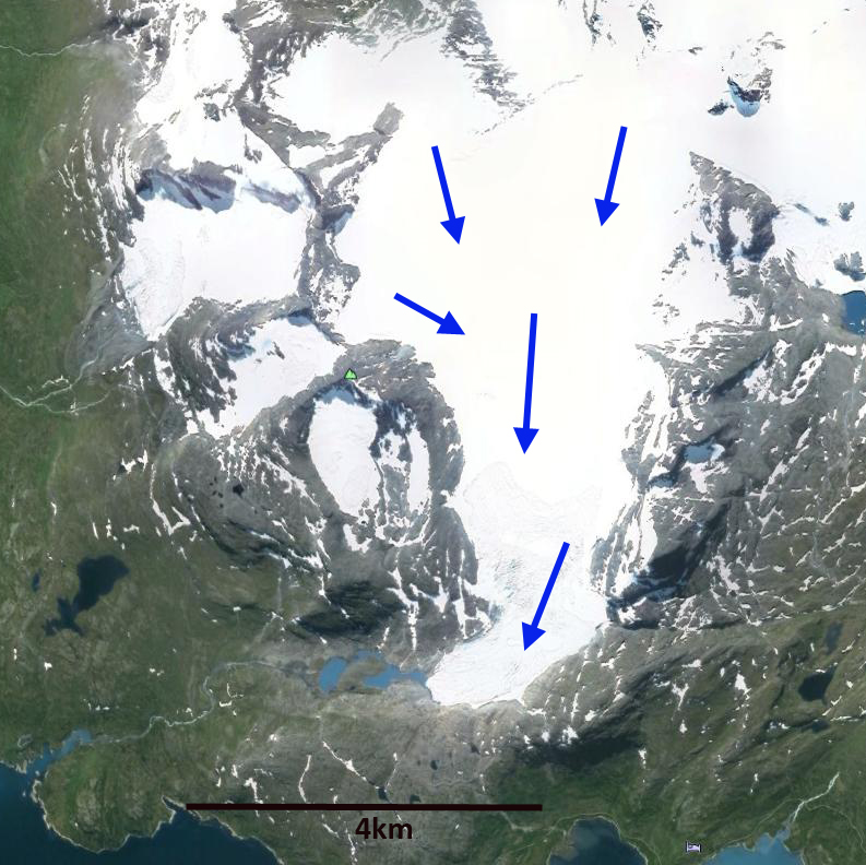 Austre Okstindbreen Retreat Norway From A Glaciers Perspective - Norway glacier map