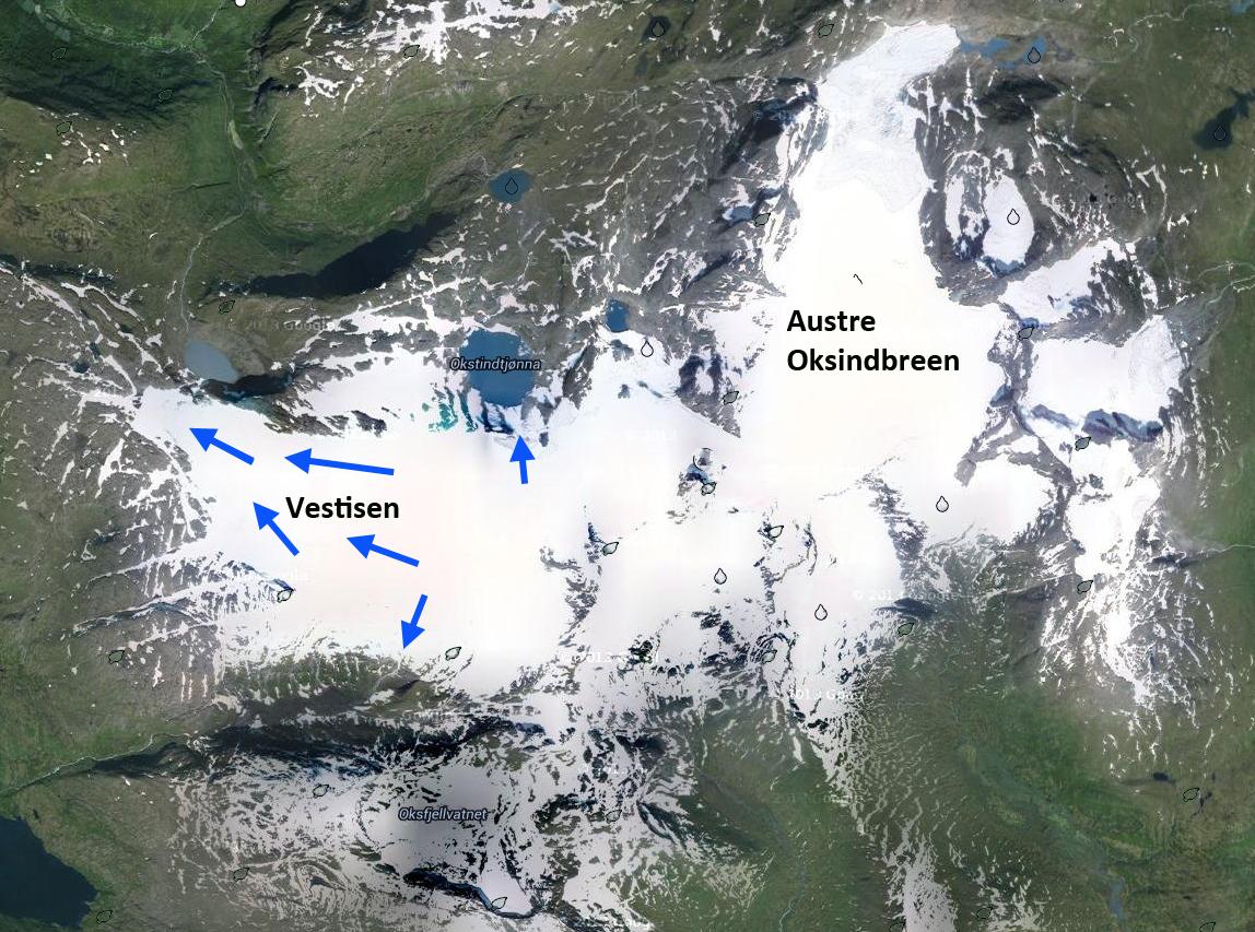 Vestisen Glacier Retreat Norway From A Glaciers Perspective - Norway glacier map
