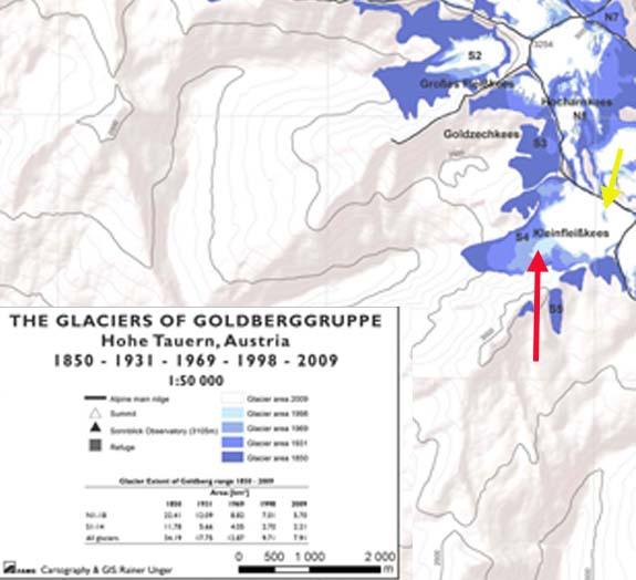 Kleinfleiss change map