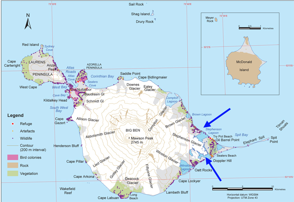 Heard island map