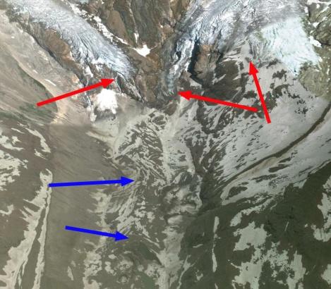 lys glacier terminus