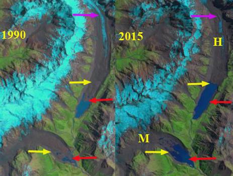 Mueller and Hooker Glacier, New Zealand