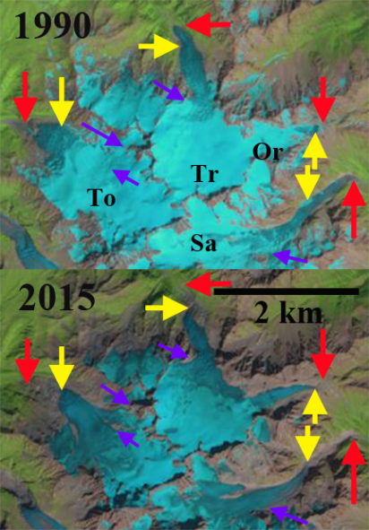 Tour, Trient, Savient and Orny Glacier, Alps