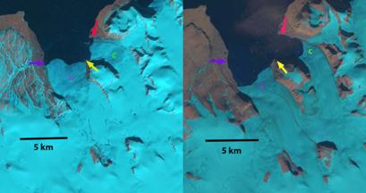 Mack and Velkena Glacier, Novaya Zemlya